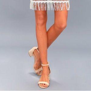 NIB Simply Minimalist Chunky Kitten Heel Sandal
